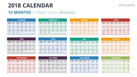 2018 calendar template for powerpoint 2010 powerpoint templates calendar 2018 choice image