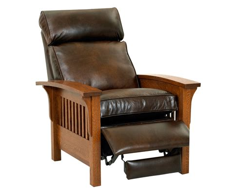 wooden recliner aldrich leather recliner chair club furniture