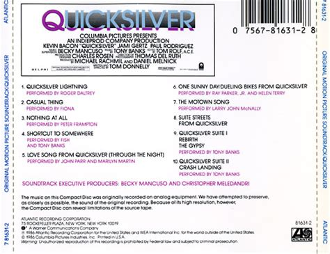 movie quicksilver soundtrack quicksilver soundtrack 1986 cd sniper reference
