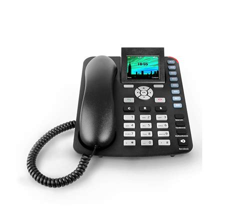 Bluetooth Desk Phone by Tecdesk 3600 Gsm Desk Phone With Colour Lcd Display And