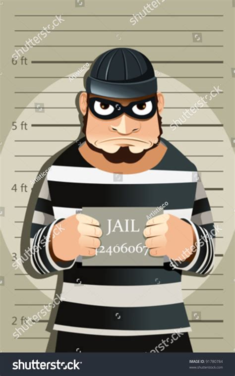 Can I Become A With A Criminal Record A Vector Illustration Of A Criminal Mug 91780784