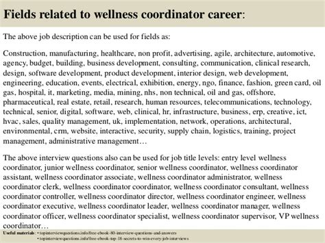 Wellness Coordinator by Top 10 Wellness Coordinator Questions And Answers