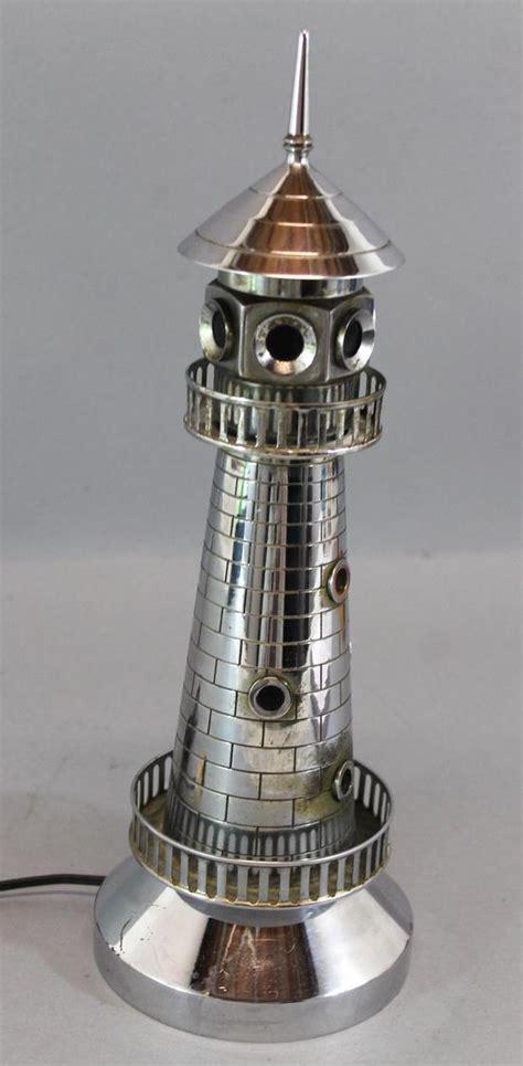chrome lighthouse rare antique art deco period chrome lighthouse nautical