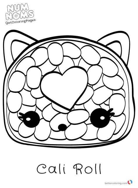 Coloring Page Num Noms by Num Noms Coloring Pages Free Printable Coloring Pages
