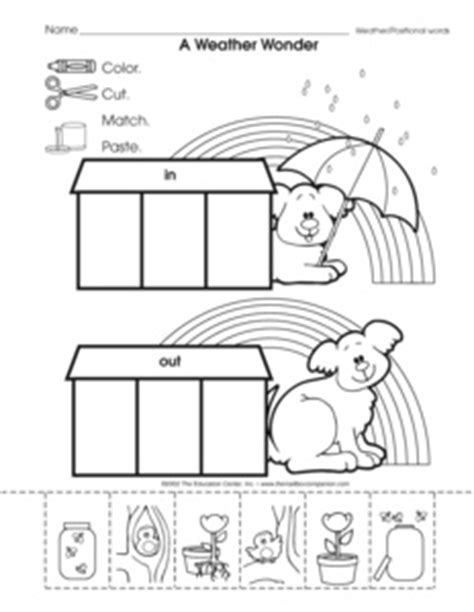 In And Out Worksheets For Preschoolers by Results For Positional Words Guest The Mailbox