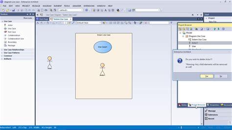 Membuat Use Case Dengan Enterprise Architect | tutorial diagram usecase dengan sparx enterprise architect
