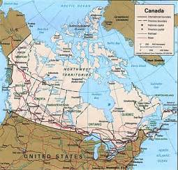 canada on map maps of canada