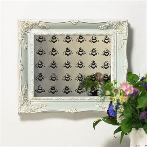 Handcrafted Mirrors - napoleonic bee mirror by crafted mirrors