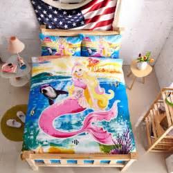 Little Mermaid Duvet Set Aliexpress Com Buy The Little Mermaid Bedding Set Girls