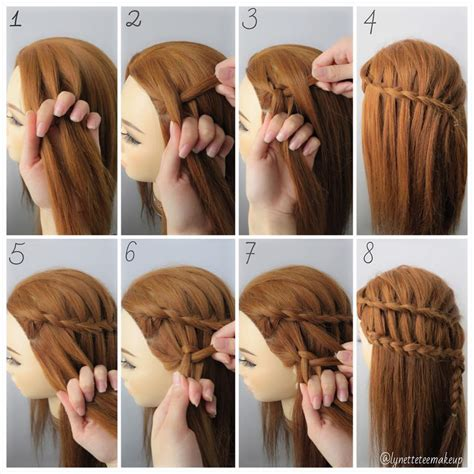 pictures of hairstyles with steps dutch three strand ladder braids check out the step as