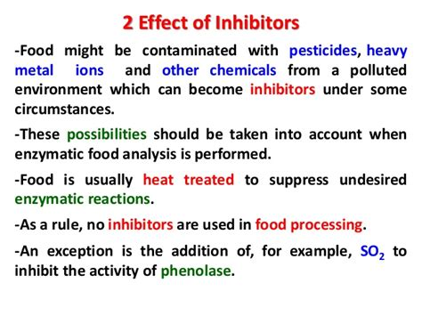enzyme inhibitors in food factors affecting enzymes