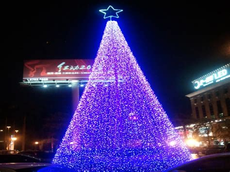 commercial grade outdoor metal 3d purple lighted christmas