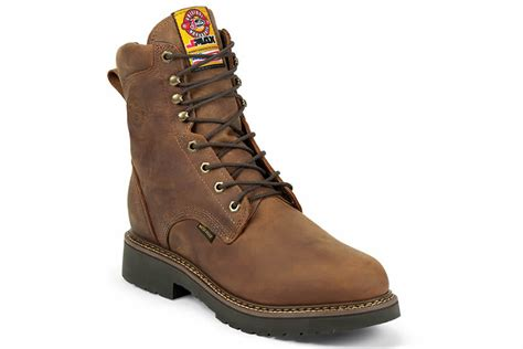 justin rugged gaucho justin boots rugged aged bark gaucho waterproof vance outdoors