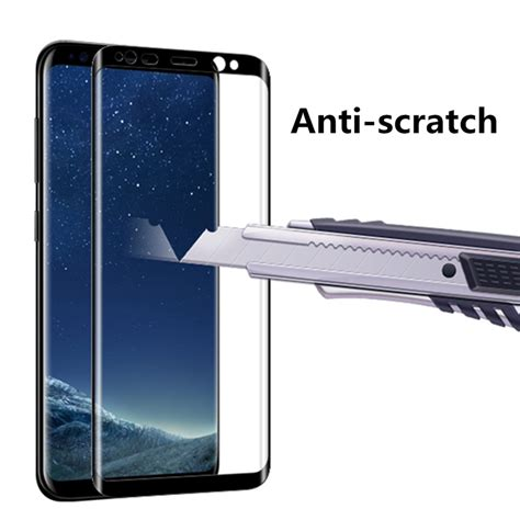 Curved Anti Gores Kaca Tempered Glass Samsung Galaxy J7 Plus 3d curved anti colored 9h tempered glass screen protector for samsung galaxy s8 sale