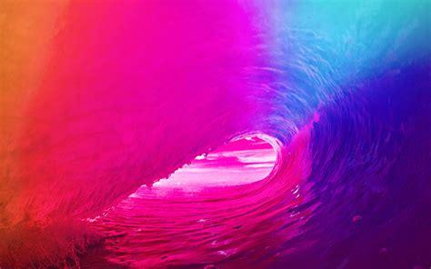 love papers  ios apple wave rainbow sea ocean red