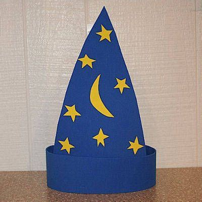 How To Make A Hat With Construction Paper - craft foam wizard hat pattern crafts paper and aluminum