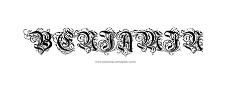 benjamin tattoo designs benjamin name designs