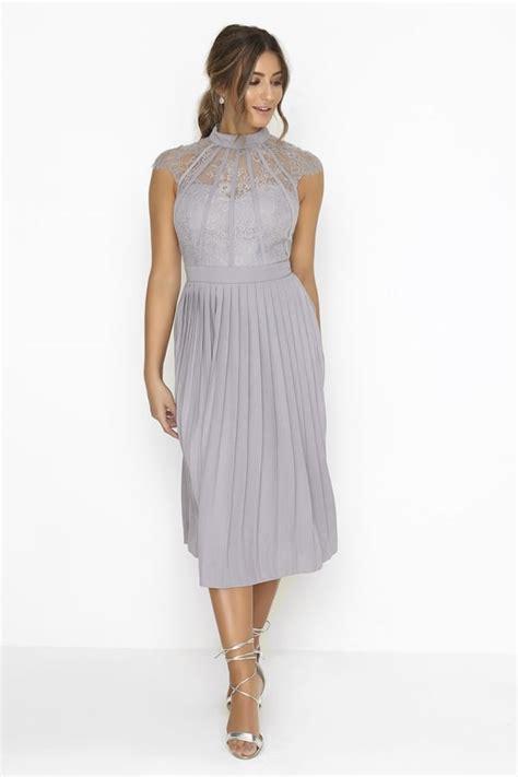 Grey Pleated 2pcs Dress religion illuminate midi dress grey octer 163 49 00