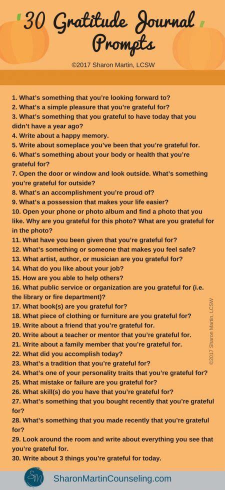 the power of gratitude 30 gratitude journal prompts
