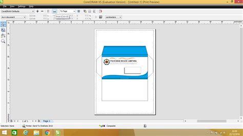 membuat kop surat dengan corel draw membuat amplop menggunakan coreldraw kuas