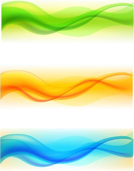 color waves set of color wave free vector in adobe illustrator ai
