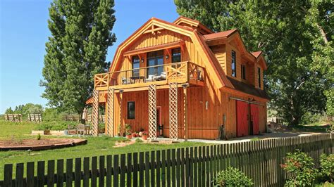 gambrel barn homes barn wood home great plains gambrel barn home project lbr1010 photo gallery