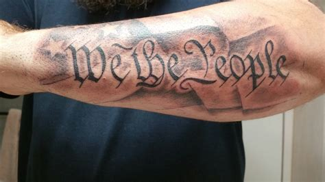 we the people tattoo new addition to the patriotic arms quot we the