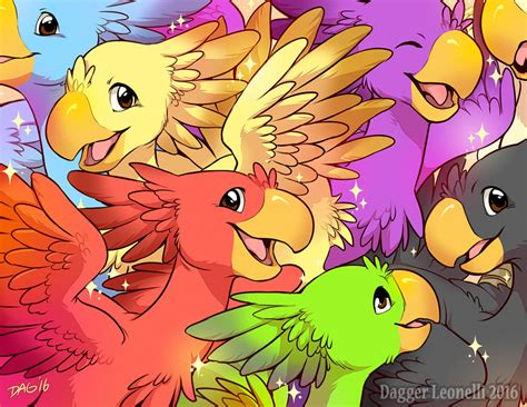 chocobo colors colorful bunch of chocobos by majime on deviantart