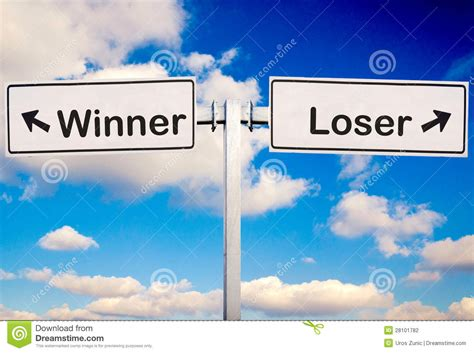 Loser To Winner by Winner Or Loser Stock Photo Image Of Bright High Arrow