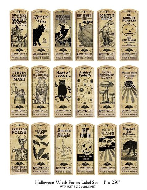potion label template witch potion label digital collage sheet bat by magicpug