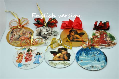 christmas ornaments diy with cd and napkin recycled