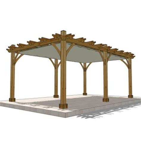 outdoor living today cedar 12 ft x 20 ft pergola