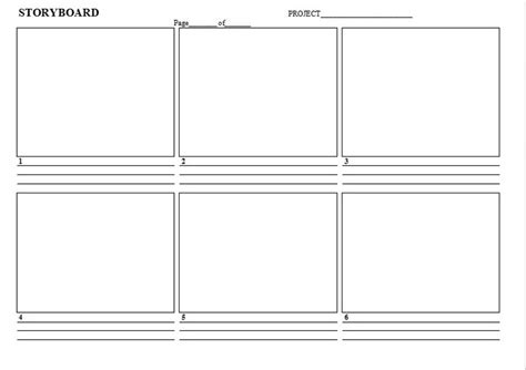 storyboard template word e commercewordpress