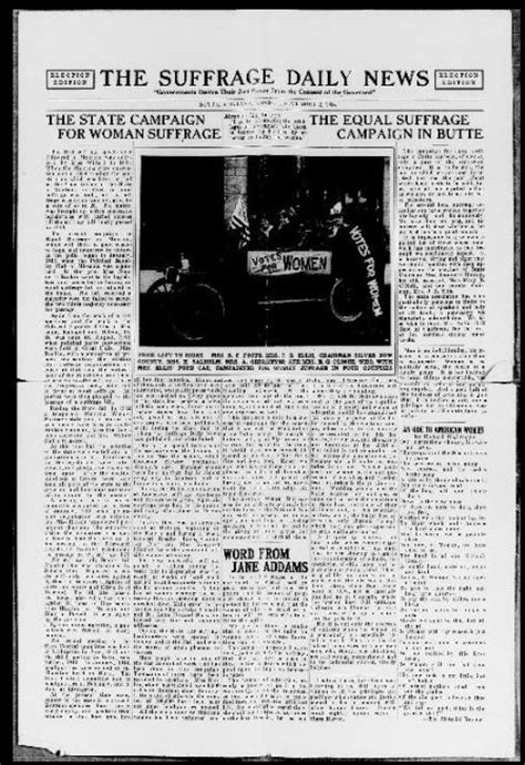 Todays News Brought To You From The National Enquirer by The Suffrage Daily News Helena Mont 1914 191