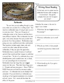 reading comprehension worksheet 2 9th grade and up the