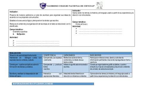 programacin anual con rutas de aprendizaje 2016 programacion anual de quechua 2 170 con rutas de aprendizaje 2016