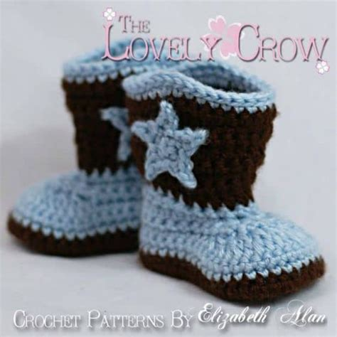 Baby Boot crochet cowboy pattern free tutorial