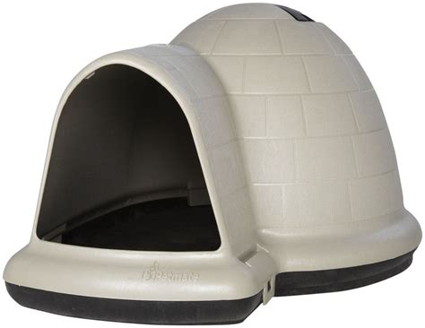 igloo dog house accessories igloo dog house medium microban insulated indoor outdoor shelter pet all weather ebay