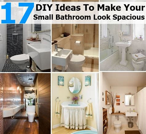 17 diy ideas to make your small bathroom look spacious