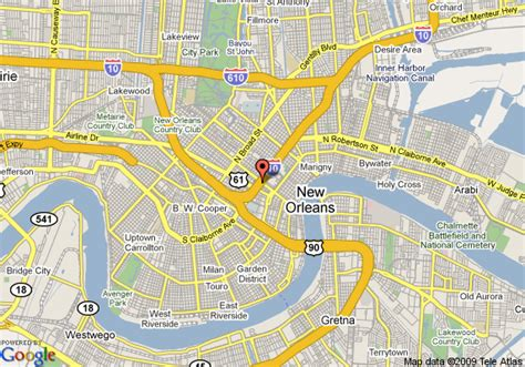 new orleans streetcar map map of canal hotel quarter new orleans