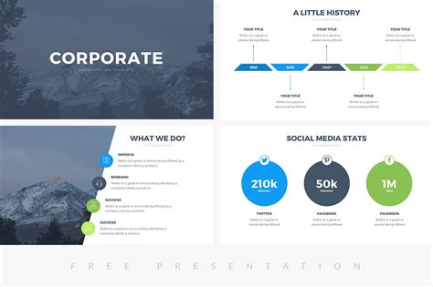 corporate templates 50 best free cool powerpoint templates of 2018 updated