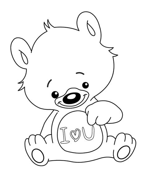 printable coloring pages i love you i love you bear free printable coloring pages