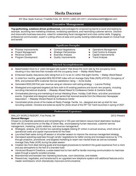 Cv Template General Manager professional services project manager resume