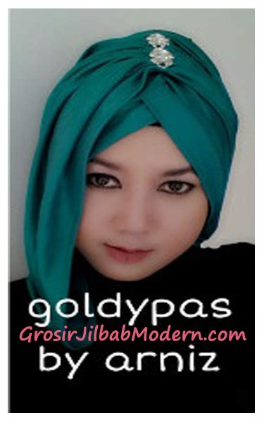 Jilbab Instan Arniz turban pashmina goldypas by arniz grosir jilbab modern