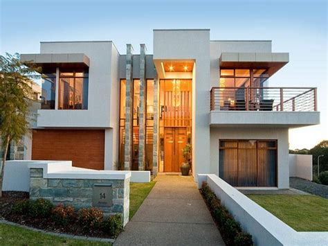 Modern Home Entry Concrete Modern House Exterior With Balcony Feature
