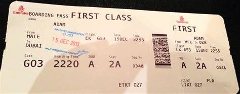 emirates ticket trip report emirates first class dubai dxb mal 233 mle