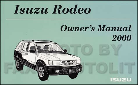 2000 isuzu rodeo free repair manual 28 2000 isuzu rodeo service manual 25419 isuzu service manual 2000 isuzu rodeo free repair manual