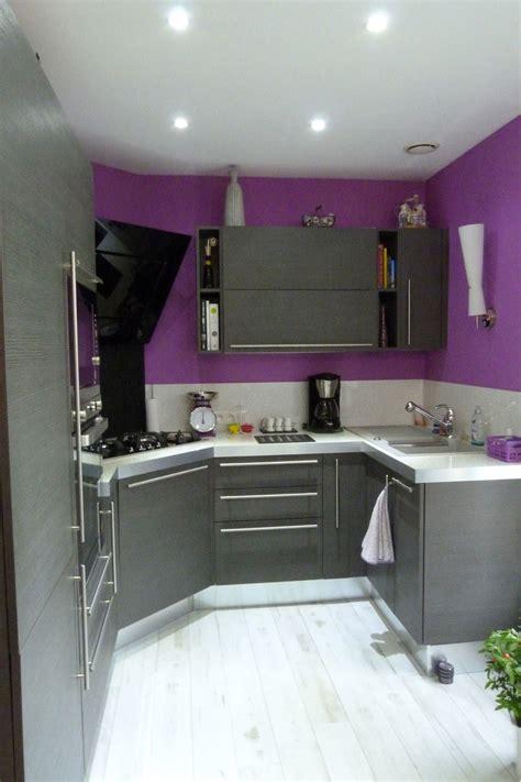 Cuisine Violet Et Gris by Cuisine Moderne Violet Et Gris Cuisine Lisieux Cuisines