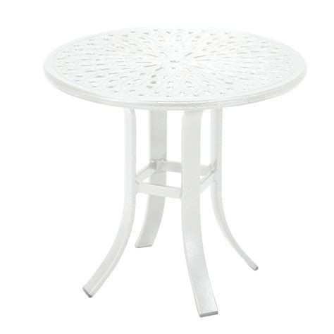 tradewinds outdoor furniture tradewinds 24 in white cast aluminum commercial patio