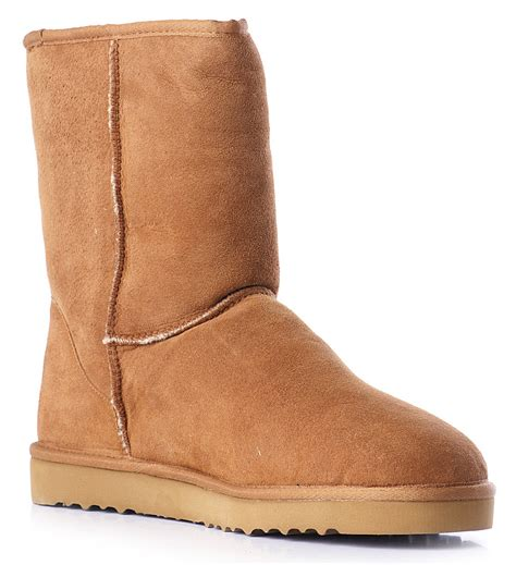 ugg sheepskin boots in brown for lyst